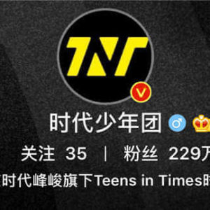 The Number of TNT Members' followers on Weibo